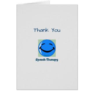 Médico gracias logopedia tarjeta de felicitación