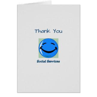 Médico gracias los servicios sociales tarjeta de felicitación