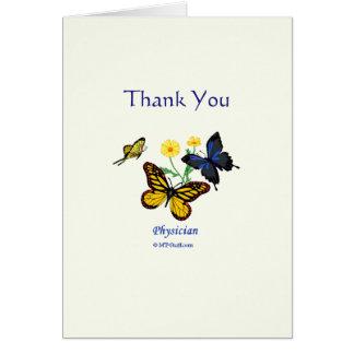 Médico gracias médico tarjeta de felicitación
