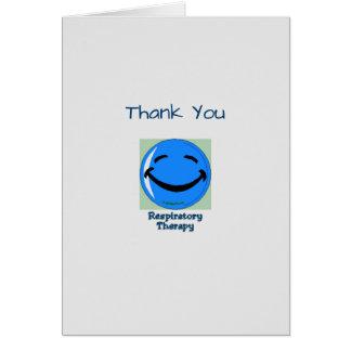 Médico gracias terapia respiratoria tarjeta de felicitación