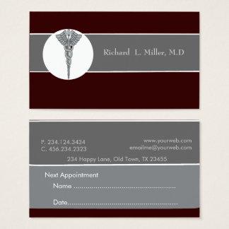 Médico iconográfico del médico de la cita tarjeta de negocios