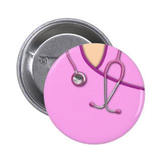 Médico rosado friega chapa redonda 5 cm