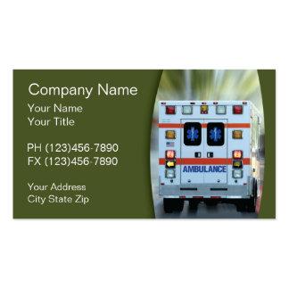 Médico, tarjetas de visita de la emergencia