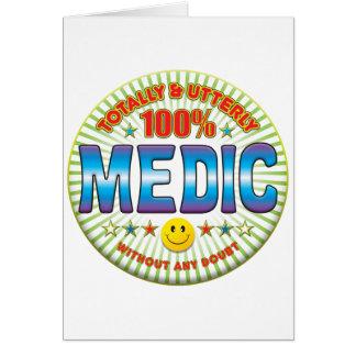 Médico totalmente tarjeta de felicitación