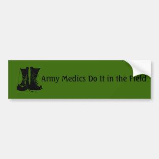 Médicos del ejército pegatina para coche