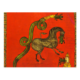 Medieval dragon postal