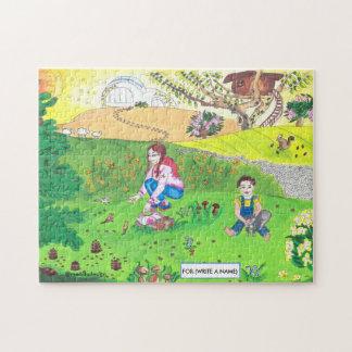 Medilludesign - niños en parque puzzle