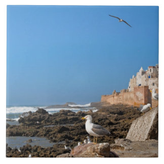Medina de Essaouira y de la costa atlántica Azulejo Cuadrado Grande