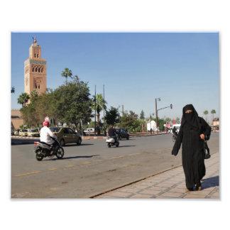 Medina de Marrakesh - las calles de Marrakesh, Arte Fotografico