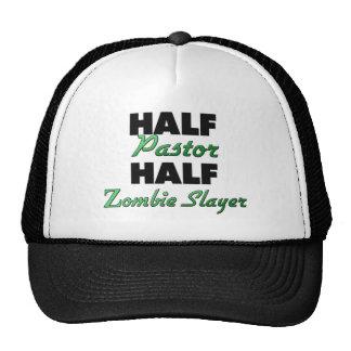 Medio asesino del zombi del medio pastor gorras