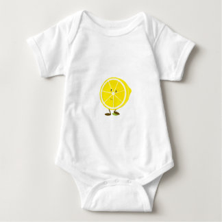 Medio carácter sonriente del limón body para bebé