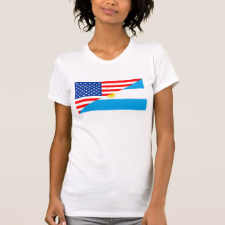 medio coun de los E.E.U.U. de la bandera de Camiseta