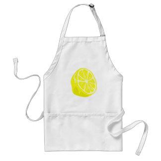 Medio delantal del limón