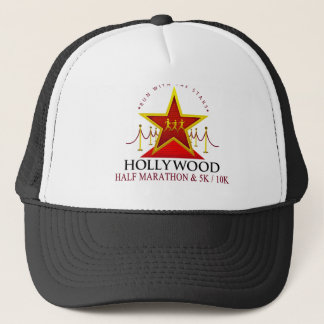 Medio gorra del camionero del maratón de Hollywood
