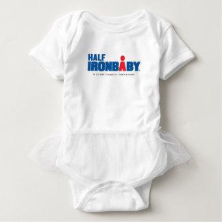 Medio mono del bebé del hierro con el tutú body para bebé