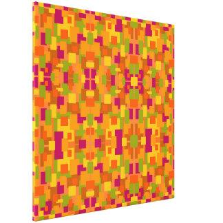 Medio multi del fractal del remiendo 2 otoñales lienzo