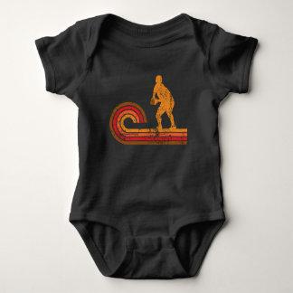 Medio rugbi de la silueta del melé retro del body para bebé