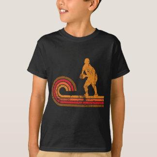 Medio rugbi de la silueta del melé retro del camiseta