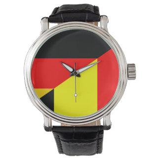 medio símbolo del país de la bandera de Alemania Reloj