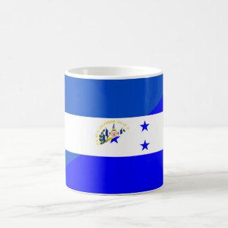 medio símbolo del país de la bandera de El Taza De Café