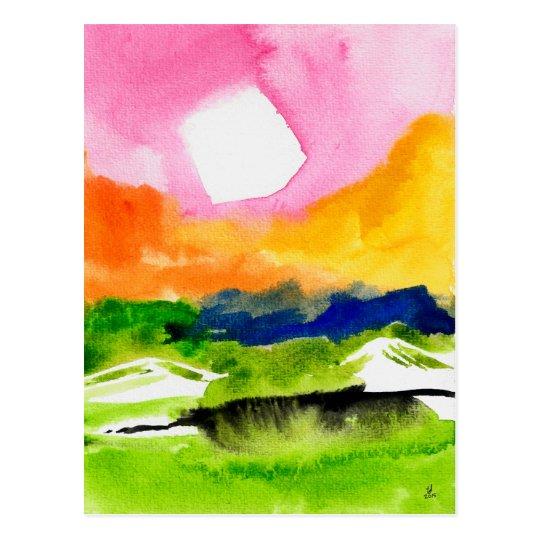 Mediodía del arco iris postal