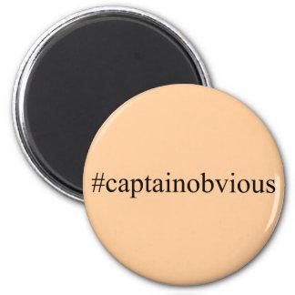 Medios de capitán Obvious Hashtag Funny Social Iman Para Frigorífico