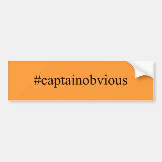 Medios de capitán Obvious Hashtag Funny Social Pegatina Para Coche