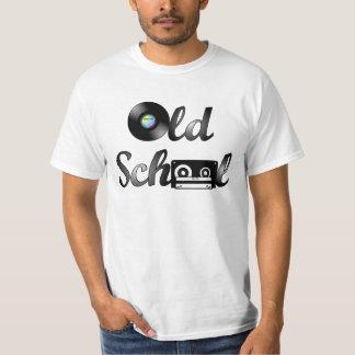 Medios de la música de la escuela vieja camiseta