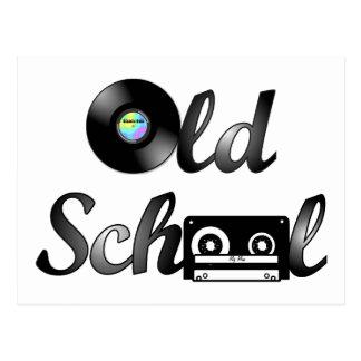 Medios de la música de la escuela vieja postal