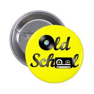 Medios de la música de la escuela vieja redondos ( chapa redonda de 5 cm