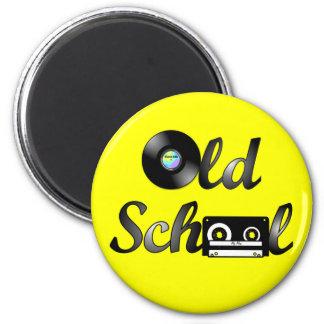 Medios de la música de la escuela vieja redondos ( imanes de nevera