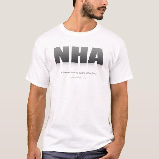 Medios de NHA blancos con el logotipo Camiseta