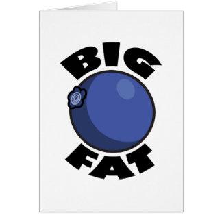 Medios gordos grandes Schwag del arándano Tarjeta De Felicitación