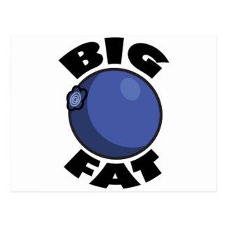 Medios gordos grandes Schwag del arándano Postal