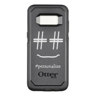 # medios sociales de la cara sonriente de Hashtag Funda Commuter De OtterBox Para Samsung Galaxy S8