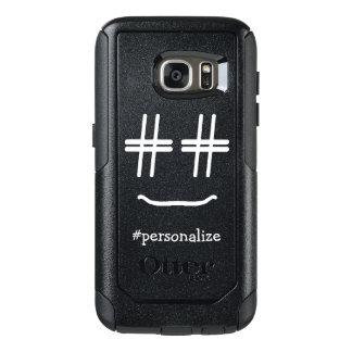 # medios sociales de la cara sonriente de Hashtag Funda Otterbox Para Samsung Galaxy S7
