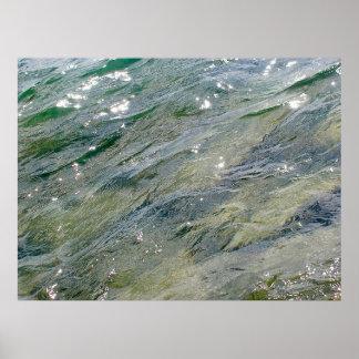 Meditación curativa - el azul agita la isla V13 de Póster