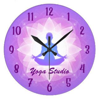 Meditación de Lotus de la yoga del zen Reloj Redondo Grande