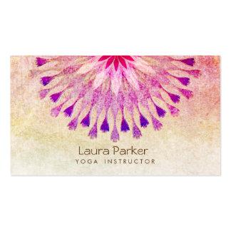 Meditación del instructor de la yoga de la flor de tarjetas de visita