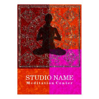 Meditación - negocio, tarjeta del horario tarjeta de visita