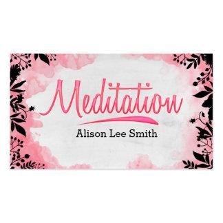 Meditación Tarjetas De Visita