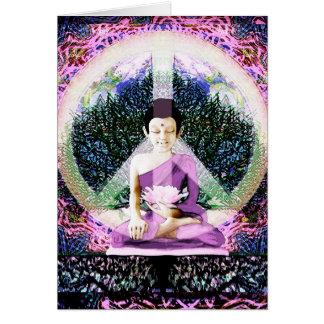 Meditación y rezos de la paz de mundo felicitación