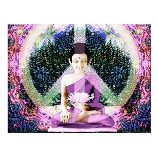 Meditación y rezos de la paz de mundo tarjetas postales