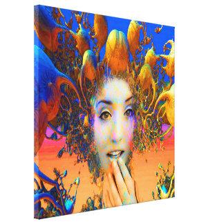 Medusa orgánica impresión en tela