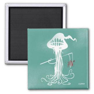 medusas asustadizas del imán verde de los cortes