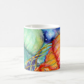Medusas cósmicas taza de café