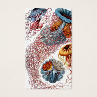Medusas de Ernst Haeckel Discomedusae Tarjeta De Negocios