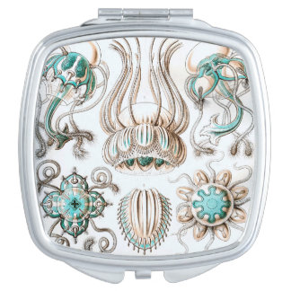 ¡Medusas de Ernst Haeckel Narcomedusae! Espejos De Maquillaje