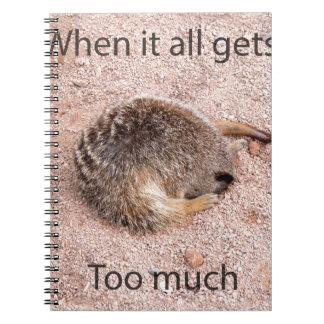 Meerkat divertido libretas espirales
