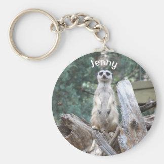 Meerkat personalizado llavero redondo tipo chapa